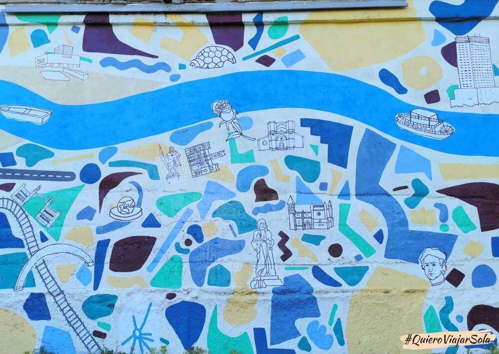 Viajar sola a Valladolid, graffiti