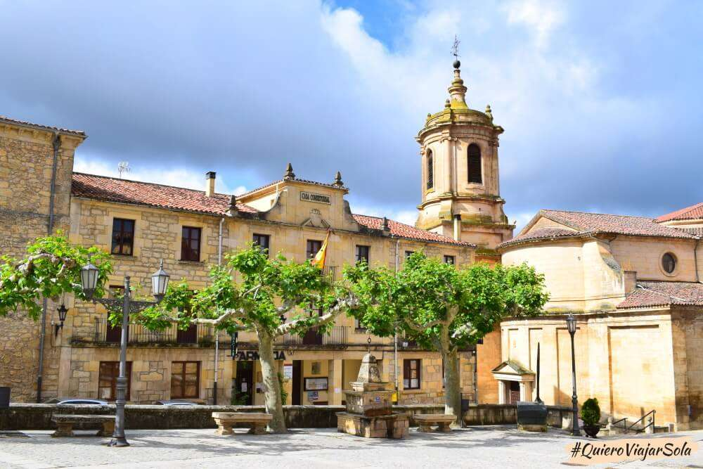Visitar Santo Domingo  de Silos, Plaza Mayor