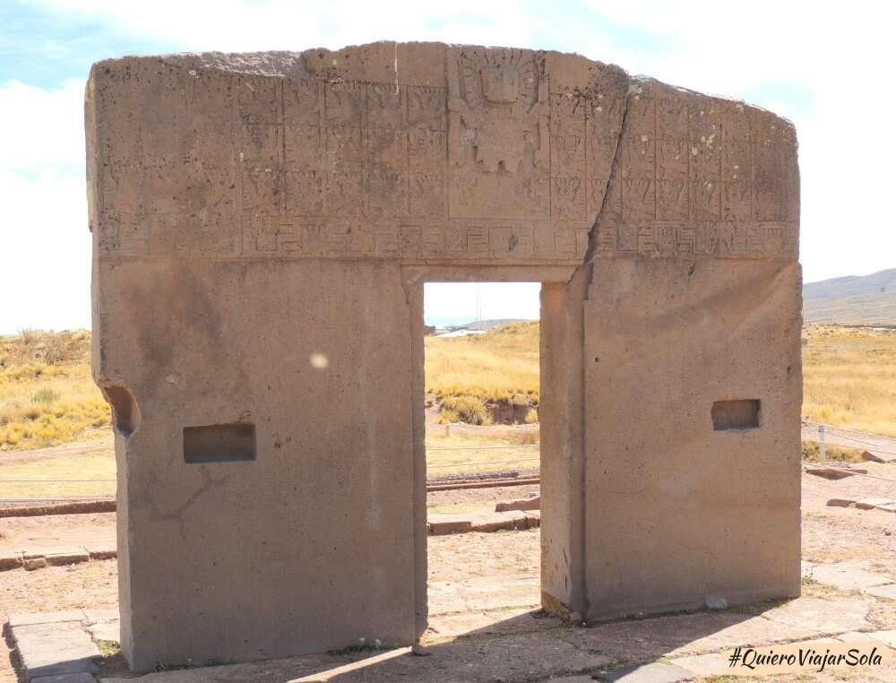 Excursión a Tiwanaku, Puerta del Sol
