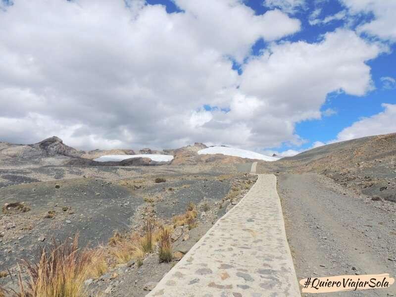 Ir al glaciar Pastoruri, camino al glaciar