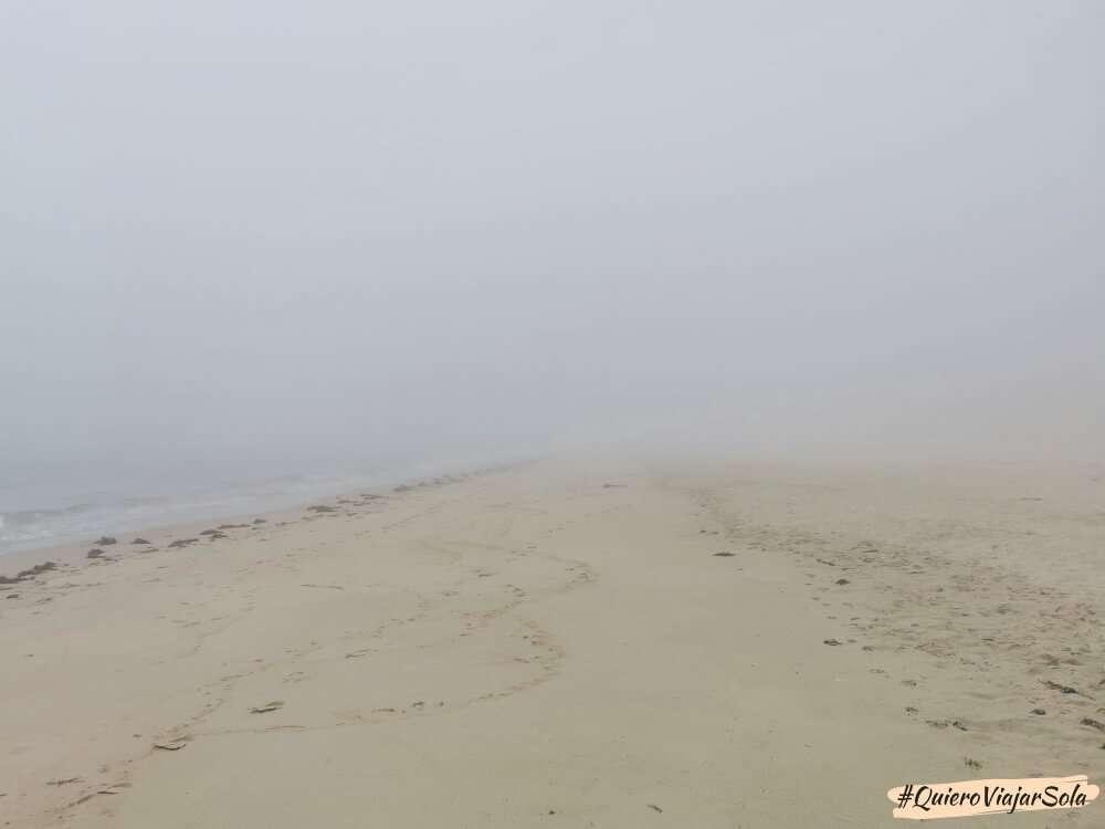 Camino de Finisterre, playa de Langosteira