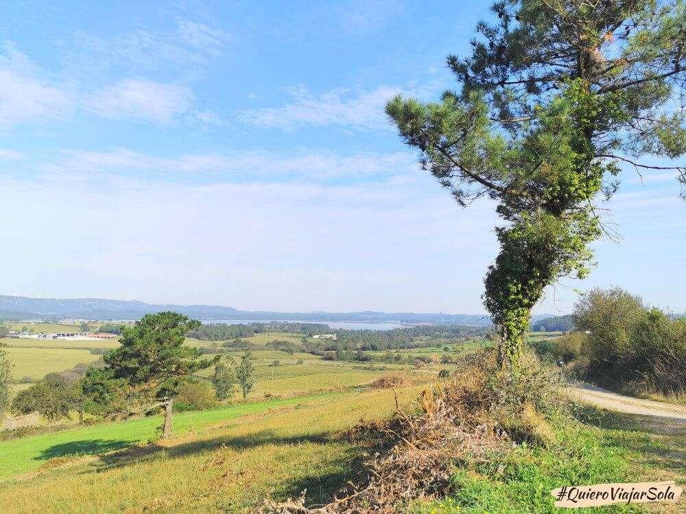 Camino de Finisterre, embalse de Fervenza