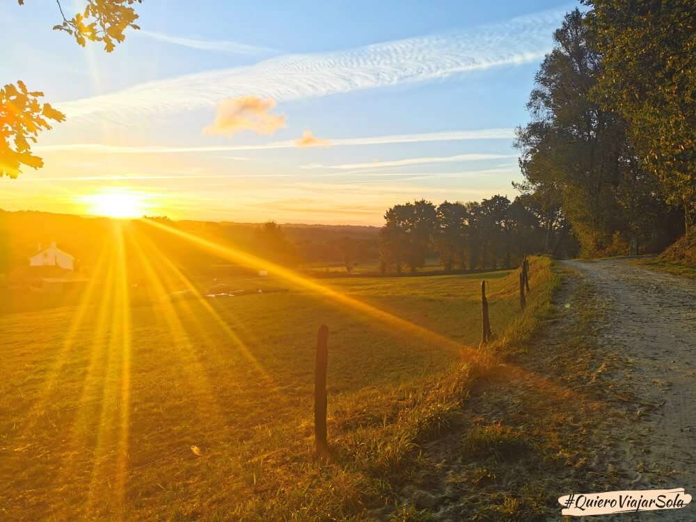 Camino del Norte, amanecer