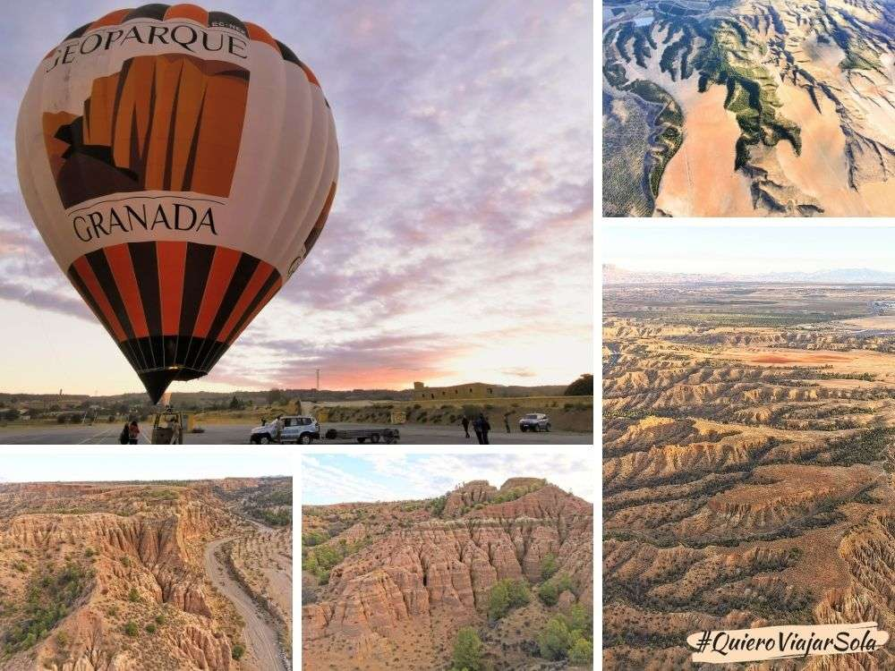Altiplano de Granada, vuelo en globo