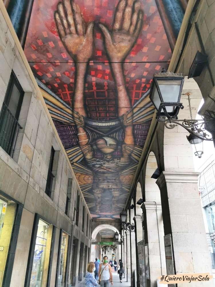 Viajar sola a Bilbao, mural