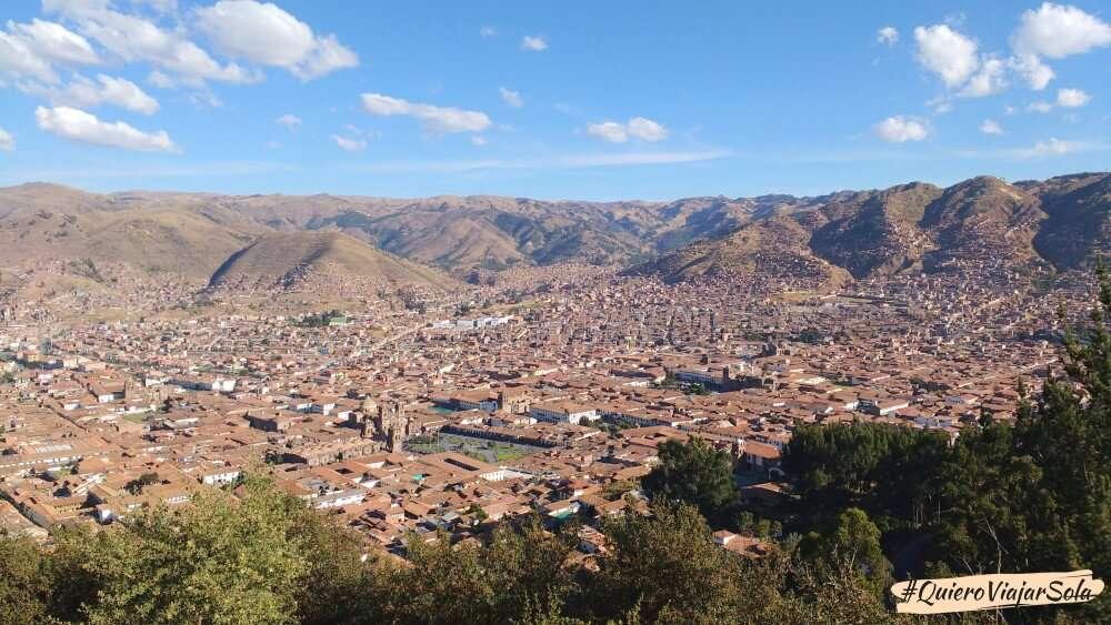 Viajar sola a Cusco, vista