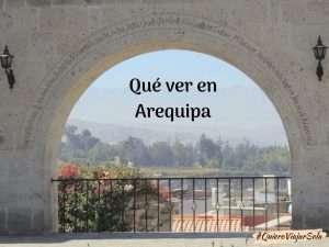 Que ver en Arequipa