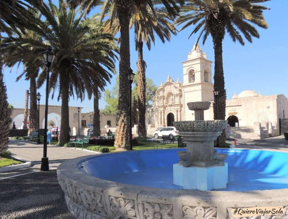 Que ver en Arequipa, plaza de Yanahuara