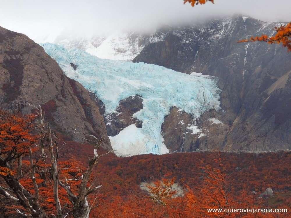 Trekking al Fitz Roy El Chaltén, glaciar Piedras Blancas
