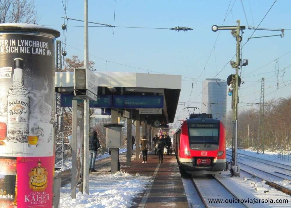 Viajar sola a Düsseldorf, tren
