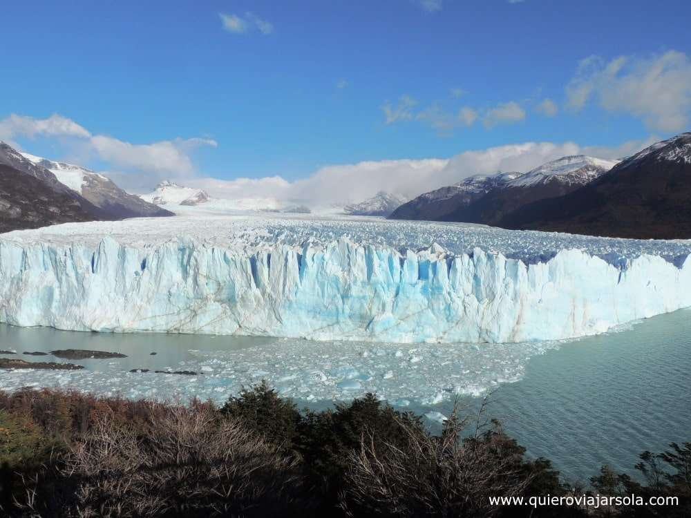 Viajar sola a El Calafate, glaciar