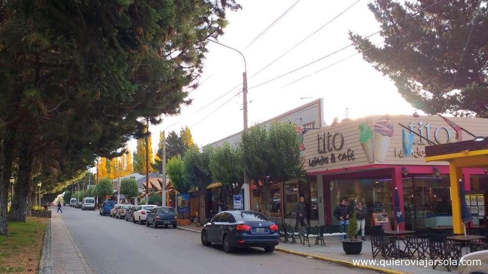 Viajar sola a El Calafate, calle principal