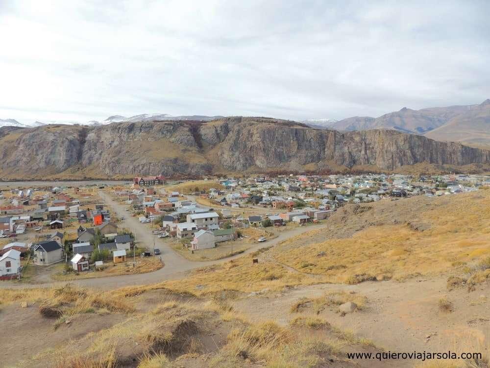 Viajar sola a El Chaltén, vista del pueblo
