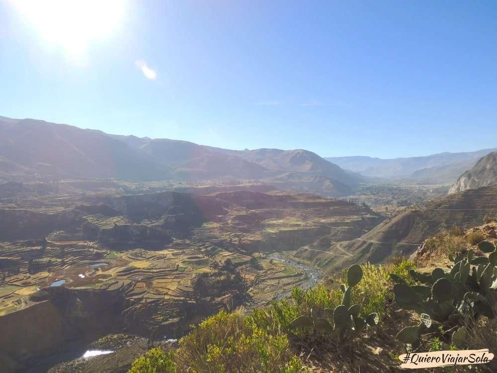 Visitar el Valle del Colca Arequipa, vista valle