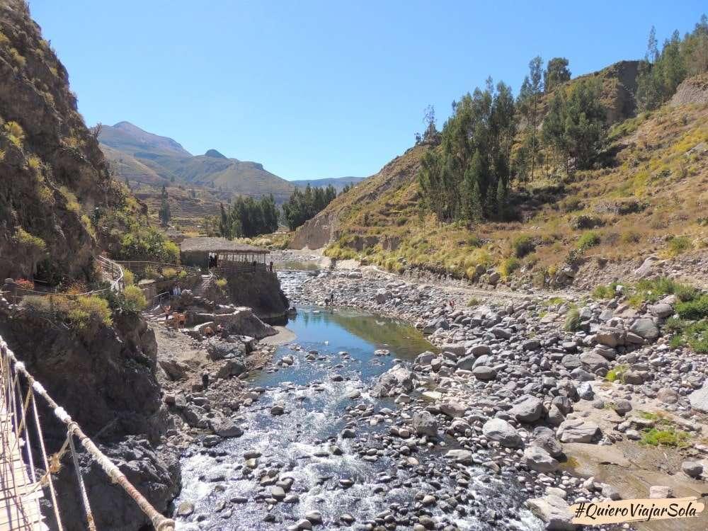 Visitar el Valle del Colca Arequipa, baños termales
