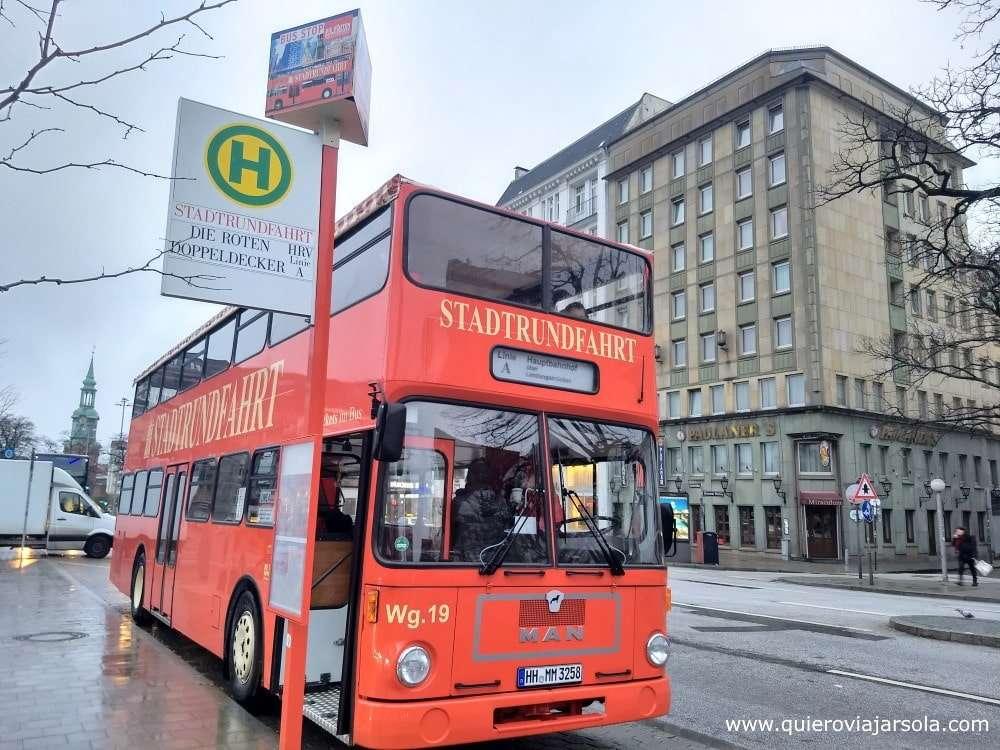 Qué ver en Hamburgo, autobús turístico