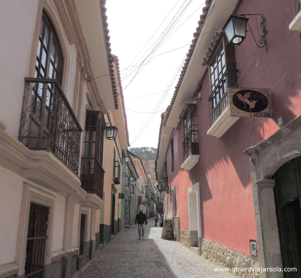 Que ver en La Paz, calle Jaén