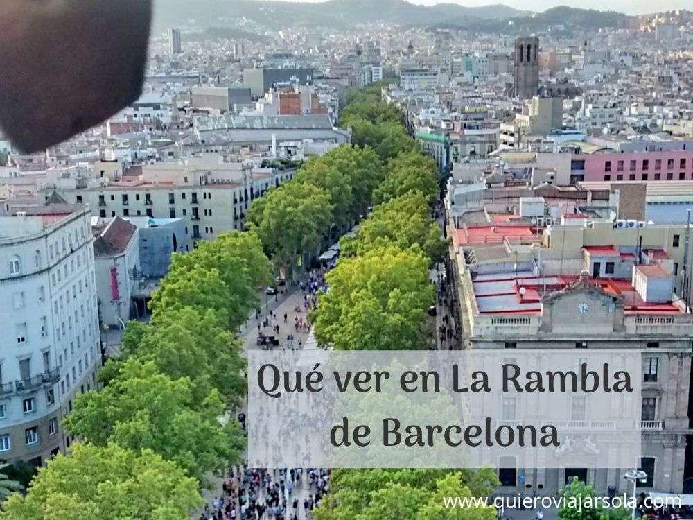 Qué ver en La Rambla de Barcelona