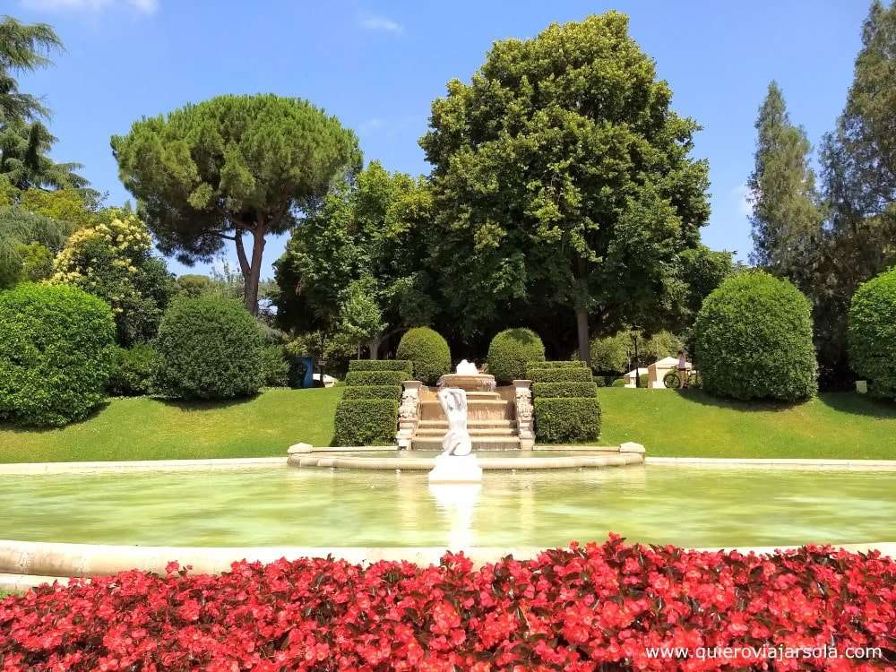Que ver en Les Corts, jardines del Palacio Real