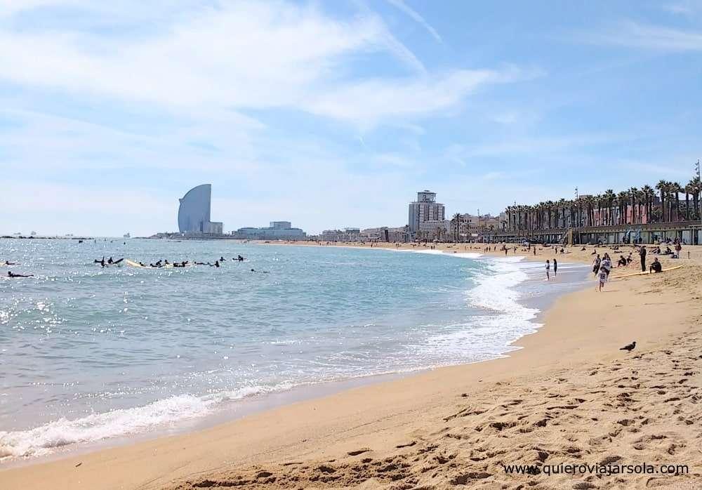 Que ver en la Barceloneta, playa
