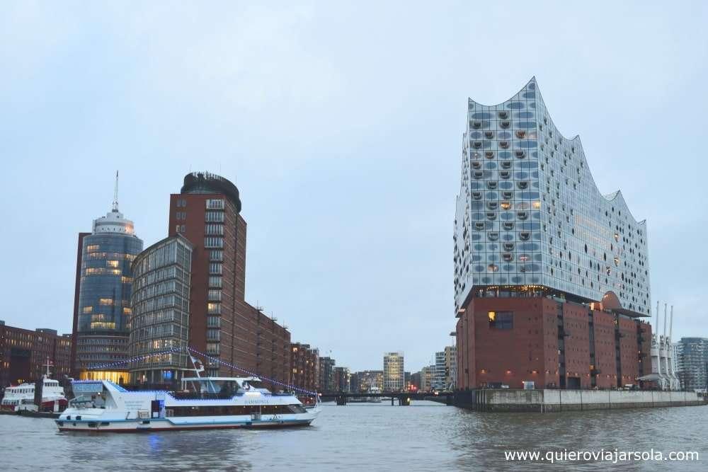 Viajar sola a Hamburgo, filarmónica del Elba