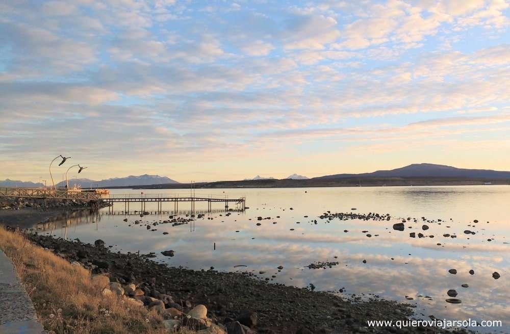 Viajar sola a Puerto Natales, costanera