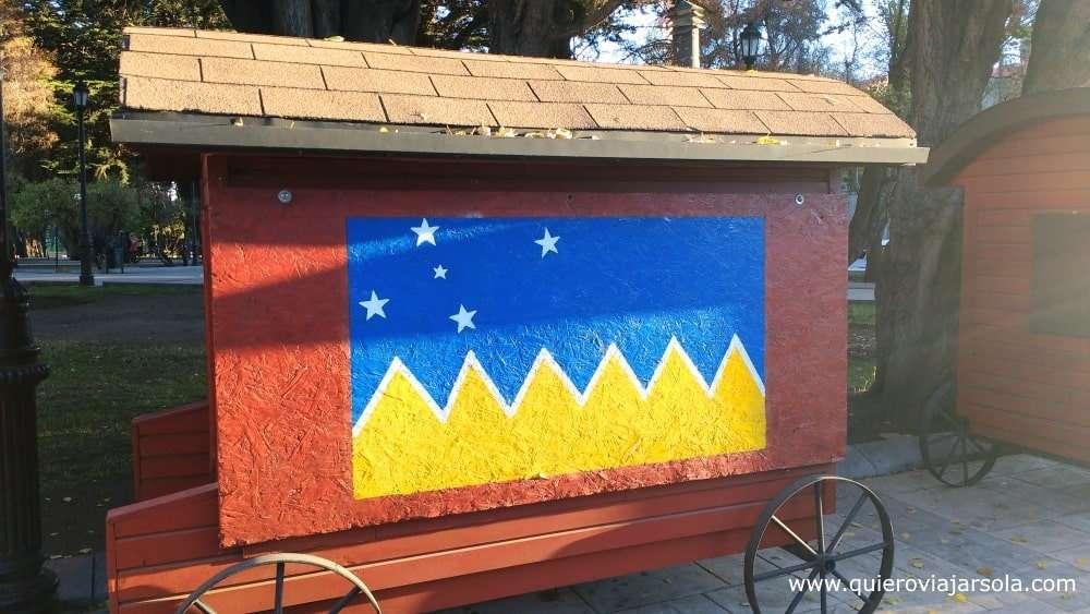 Viajar sola a Punta Arenas, bandera