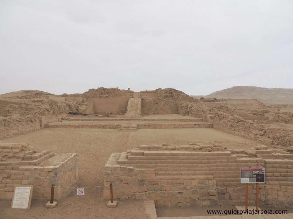 Visitar Pachacamac, pirámide
