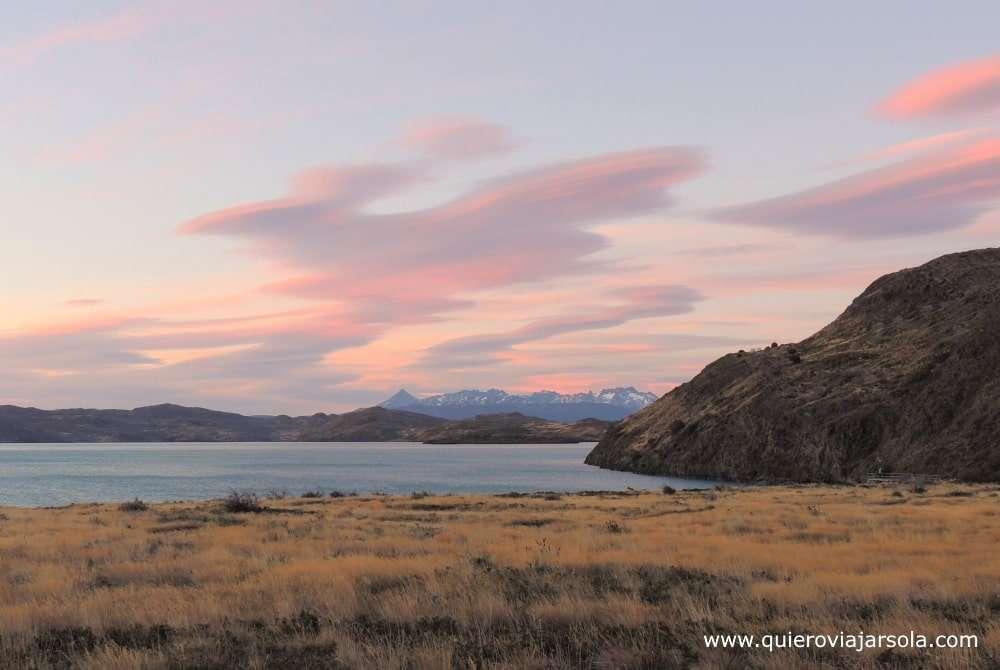 Visitar Torres del Paine, atardecer
