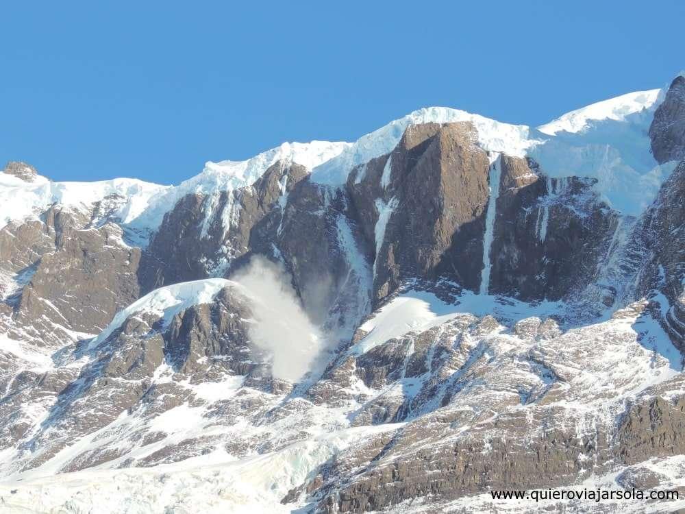 Visitar Torres del Paine, glaciar Francés
