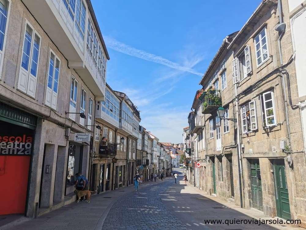 Viajar sola a Santiago de Compostela, calle