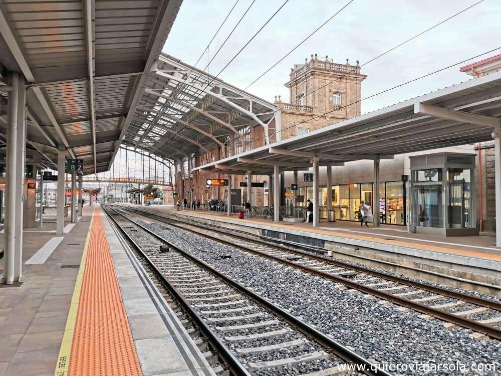Viajar sola a Santiago de Compostela, estación de tren
