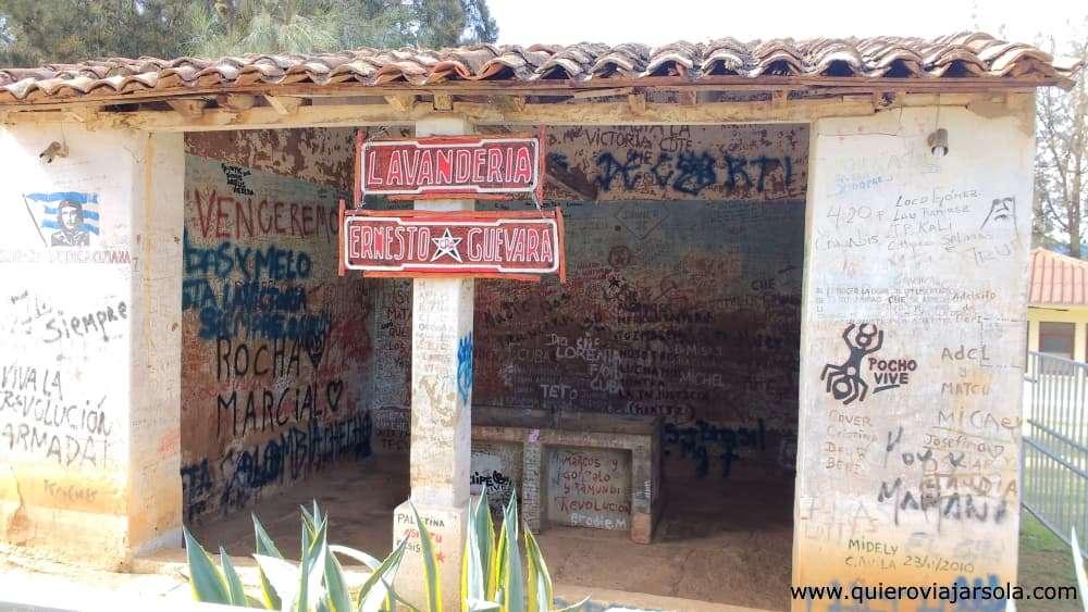Ruta del Che, lavandería Vallegrande