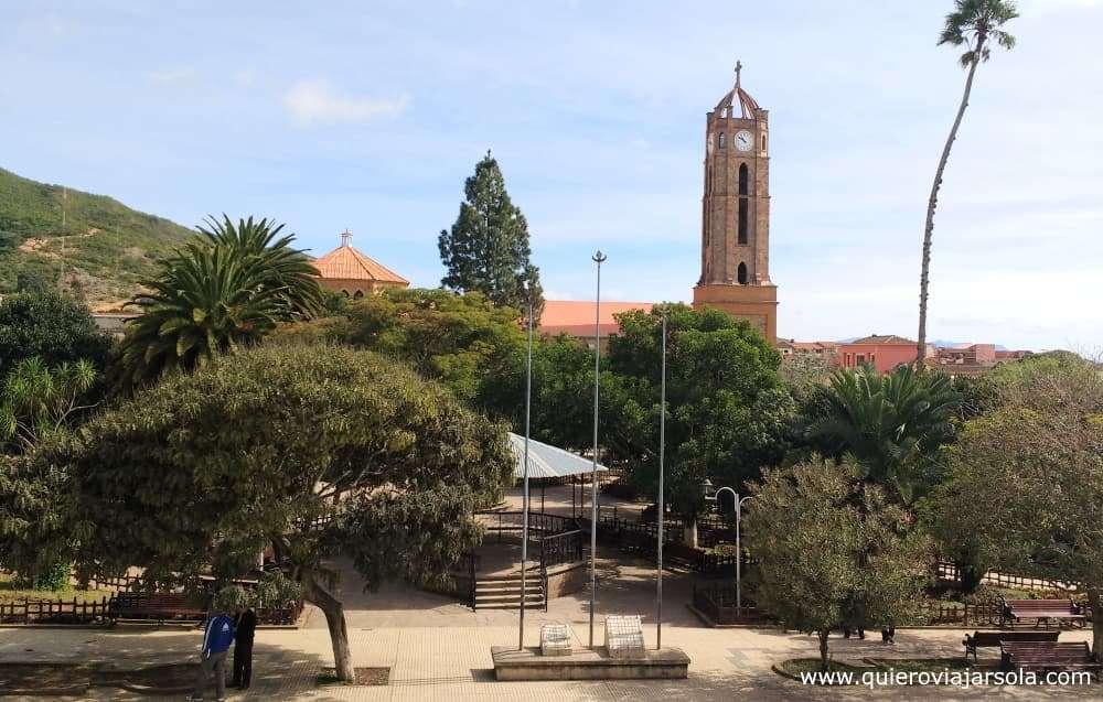 Ruta del Che, plaza de Vallegrande
