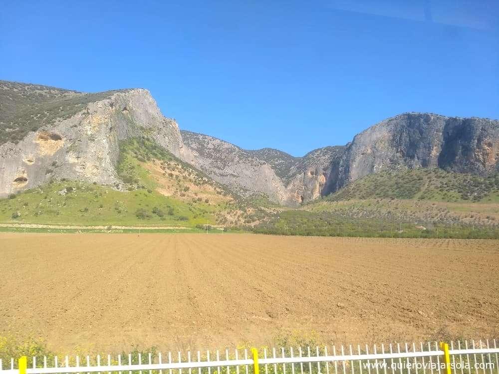 Visitar Éfeso, paisajes desde el tren