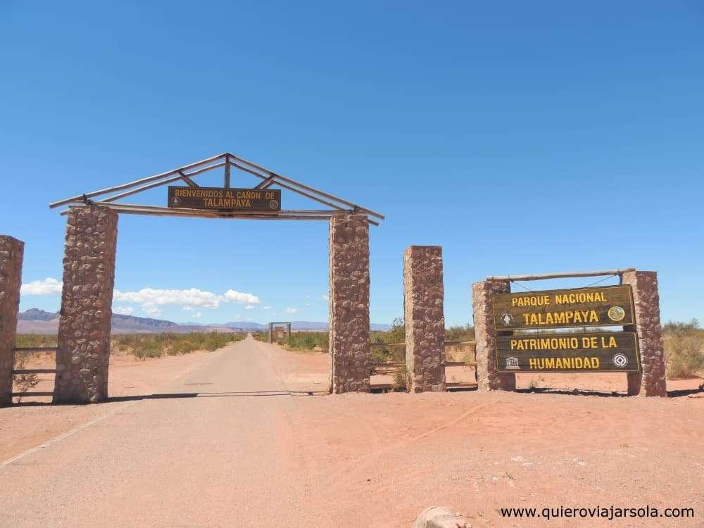 Visitar Talampaya, entrada