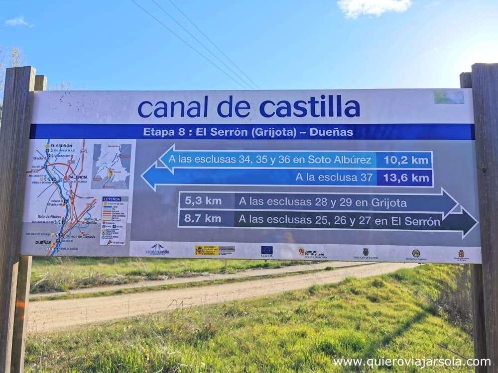Canal de Castilla, señalización