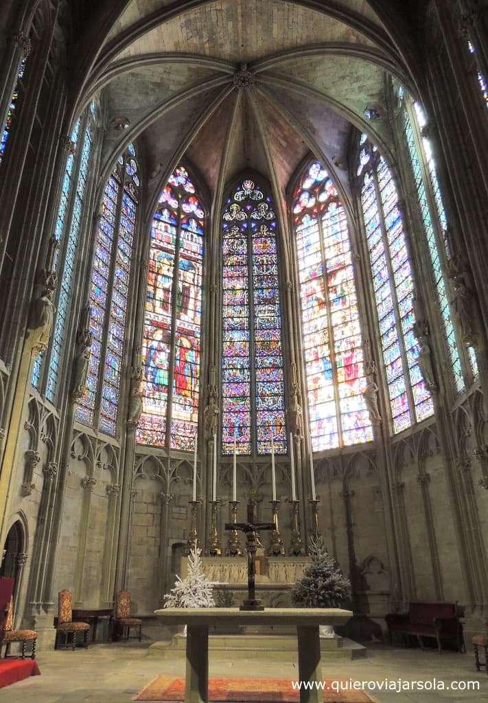 Que hacer en Carcassonne, basílica de Saint-Nazaire