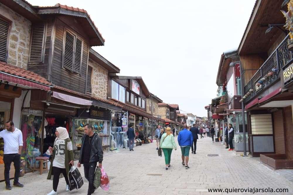 Que ver en Side Turquía, calles comerciales