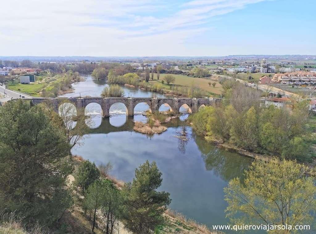 Senda de los Cortados del Pisuerga, puente de Cabezon de Pisuerga