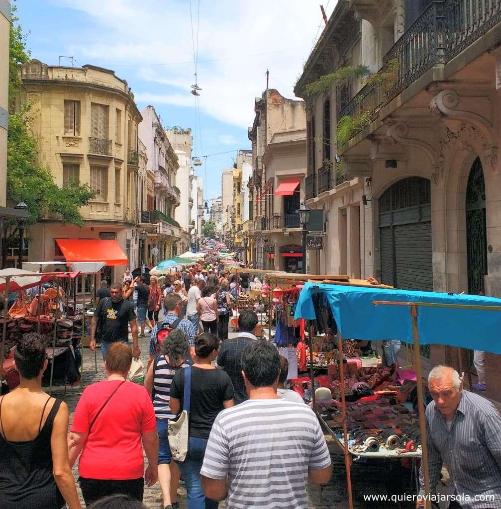 Viajar sola a Buenos Aires, Feria de San Telmo