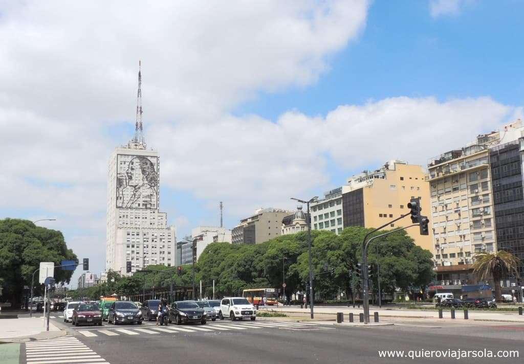 Viajar sola a Buenos Aires, avenida 9 de Julio