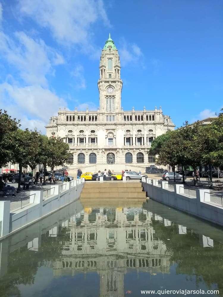Viajar sola a Oporto, ayuntamiento