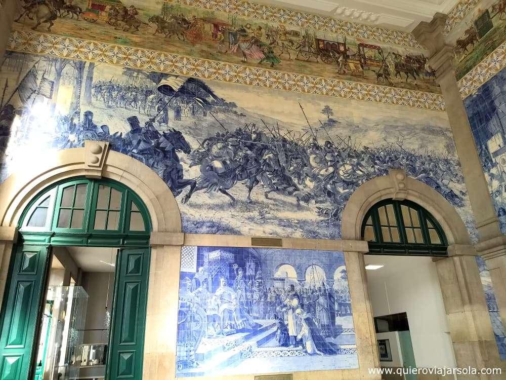Viajar sola a Oporto, estación de Sao Bento