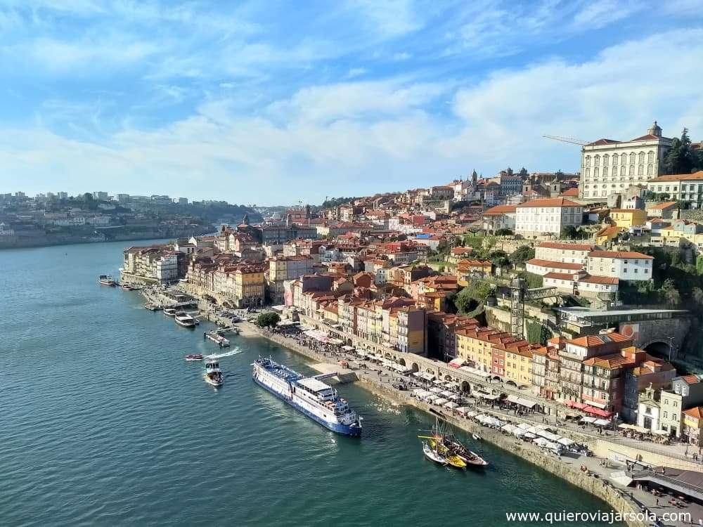 Viajar sola a Oporto, vista puente