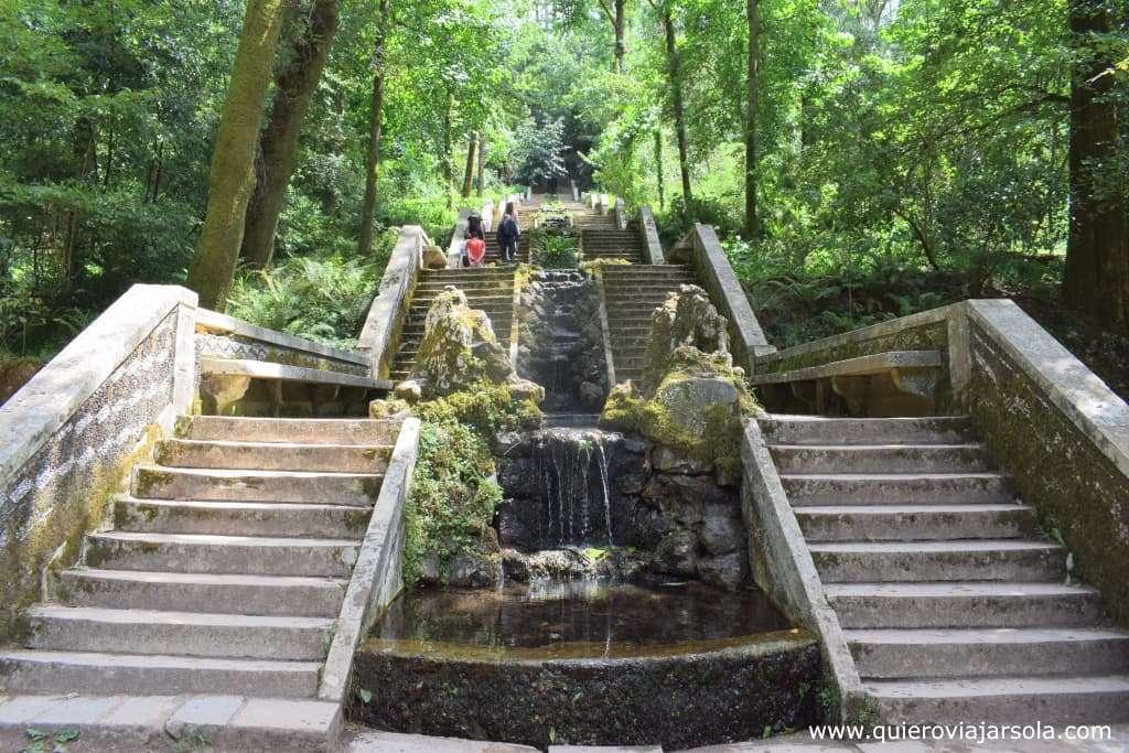 Visitar el Bosque de Busaco, escalinata