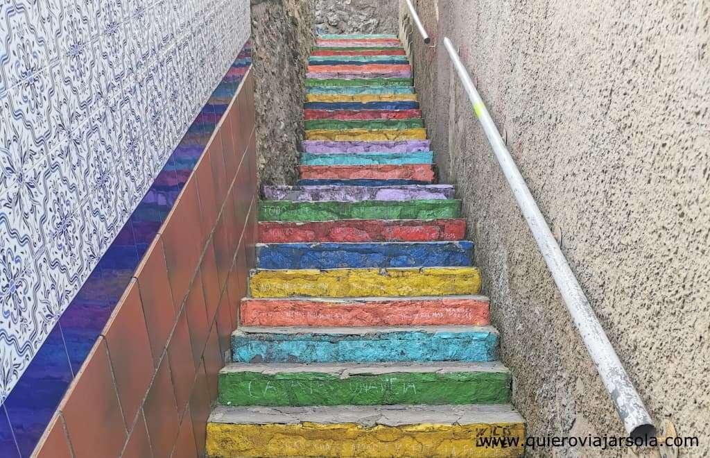 Que ver en Ribadesella, escalera de colores