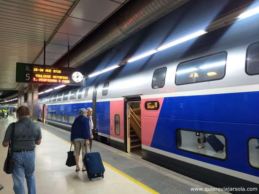 Viajar sola a Perpinan, tren
