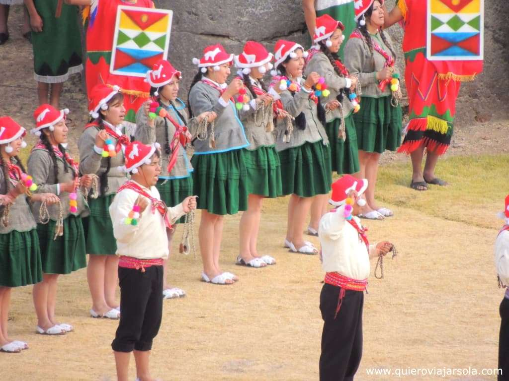 Inti Raymi en Cusco, bailarines