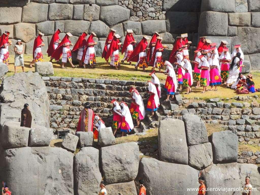 Inti Raymi en Cusco, llegada suyos